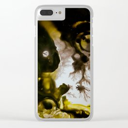 Alien embryo, acrylic on canvas Clear iPhone Case