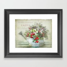 red berries  Framed Art Print