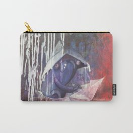 blue french bulldog in a paperboat Carry-All Pouch