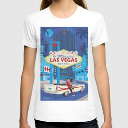 Vegas Baby by Art of Scooter Mid Century Modern inspired art and merchandise  T-shirt