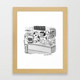 No Tipping Framed Art Print