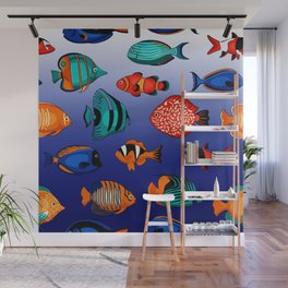 Peces tropicales Wall Mural