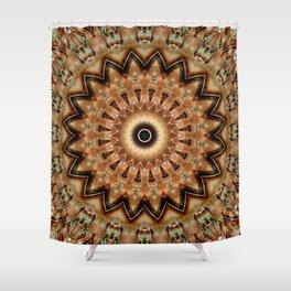 Mandala golden times Shower Curtain