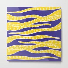Yellow Tentacles Metal Print