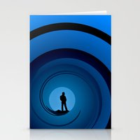 bond Stationery Cards featuring Bond Man by Steve Purnell
