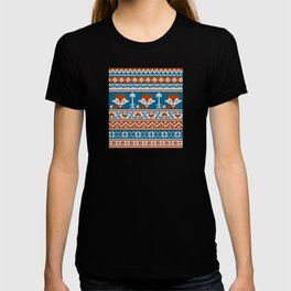 Fair Isle Fox - Blue T-shirt
