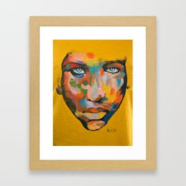 Colored Face Framed Art Print