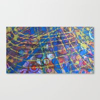 grid Canvas Prints featuring Grid by Heather Plewes Art