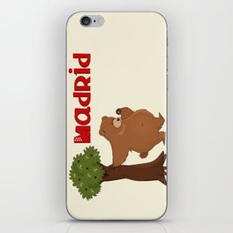 MADRID: Bear and Madrono (v.2) iPhone Skin