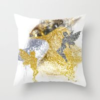 fairies Throw Pillows featuring Glitter Fairies by haroulita
