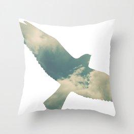 Cloud Bird Throw Pillow