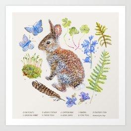 Spring Wildlife - Neutral Art Print