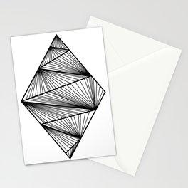 Design Losange (BlanckandWhite) Stationery Cards