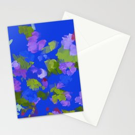 Classic Blue Loose Floral  Stationery Cards