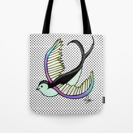 Black swallow odl school Tote Bag