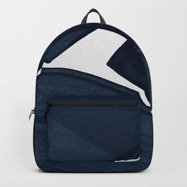 Minimalist Painting Blue II, Modern Abstract Backpack