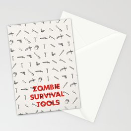 Zombie Survival Tools - Pattern 'o tools Stationery Cards
