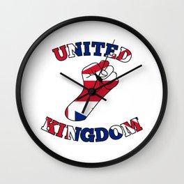 United Kingdom Fist Wall Clock