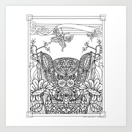 Garden Series 2 Adult Coloring  Art Print