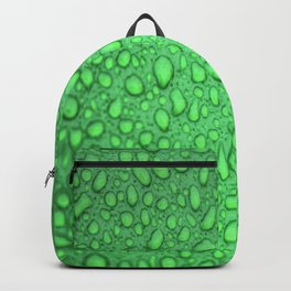 Green Raindrops HDR Backpack