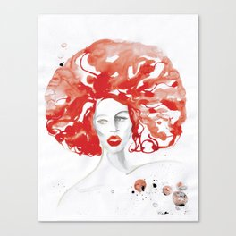 Mama Ru with a Huge Red Wig Canvas Print