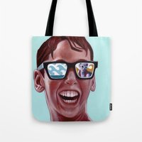 solid Tote Bags featuring This Magic Moment by Jared Yamahata