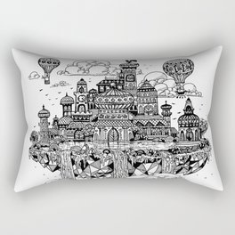 Floating city Rectangular Pillow