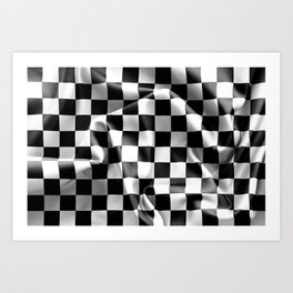 Chequered Flag Art Print