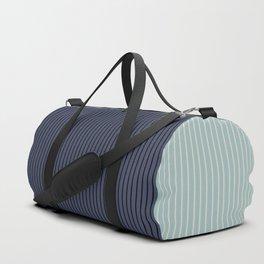 Color Block Lines XI Sage & Blue Duffle Bag