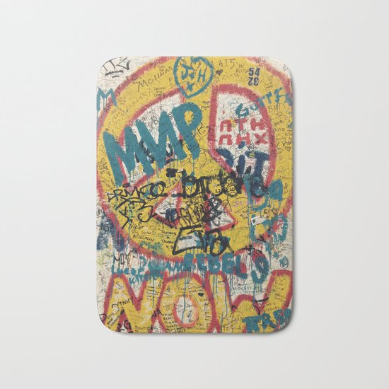 the Berlin wall Bath Mat