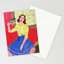 summertime lady keepin' cool Stationery Cards