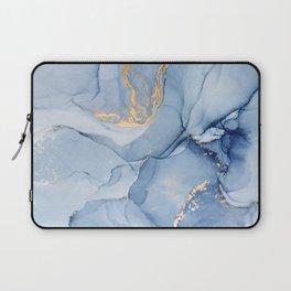 Abstract 1 Blue & Gold Art Print By LandSartprints Laptop Sleeve