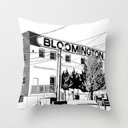 bloomington I Throw Pillow