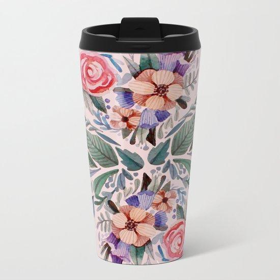 Flower love Metal Travel Mug