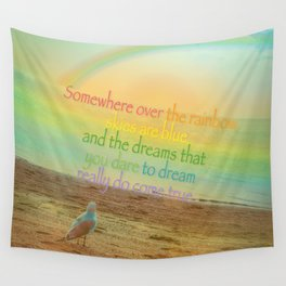 Somewhere Over the Rainbow Wall Tapestry