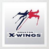 nfl Art Prints featuring Houston X-wings - NFL by Steven Klock