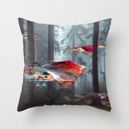 Electric Stingray World Throw Pillow