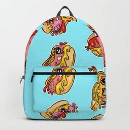 Weenie Roast Hot Dogs Retro Cartoon Character Pattern Backpack