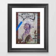 Stop the clocks Framed Art Print