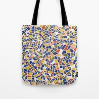 geo Tote Bags featuring geo by jennifer judd-mcgee