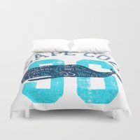 cape cod Duvet Covers featuring Cape Cod Whale by Rob Howell
