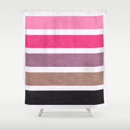 Colorful Pink Geometric Pattern Shower Curtain