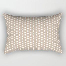 White dots in light brown background Rectangular Pillow
