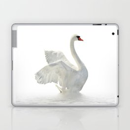 WHITE ON WHITE-BEAUTIFUL SWAN Laptop & iPad Skin