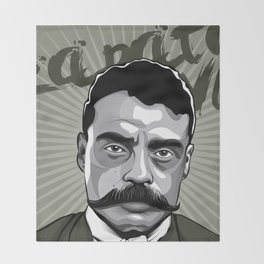 Emiliano Zapata - Trinchera Creativa Throw Blanket