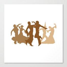 Flamenco Dancers Illustration  Canvas Print