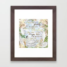 Daughter of the Forest - You Are What You Are Framed Art Print