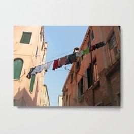 Venice Clothesline Metal Print