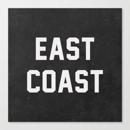 East Coast - black Canvas Print