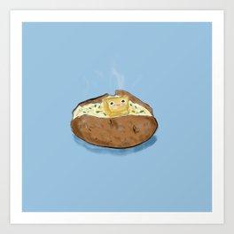 Butter Potato Art Print